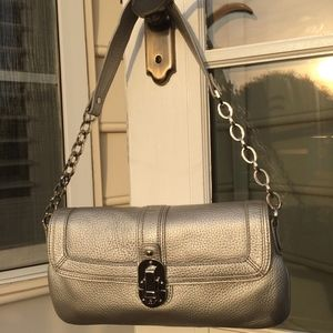 Pewter Etienne Aigner Shoulder Bag